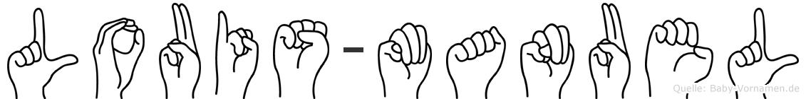 Louis-Manuel im Fingeralphabet der Deutschen Gebärdensprache