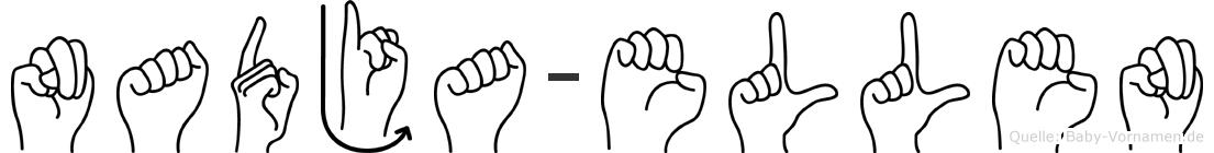 Nadja-Ellen im Fingeralphabet der Deutschen Gebärdensprache