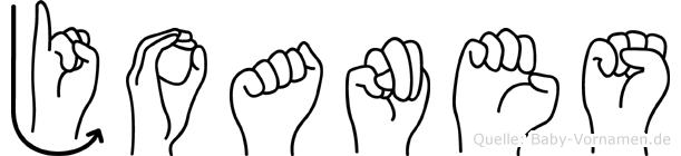 Joanes im Fingeralphabet der Deutschen Gebärdensprache