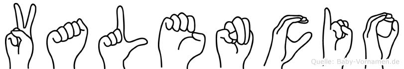 Valencio in Fingersprache für Gehörlose