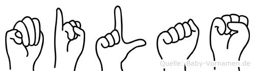 Milas im Fingeralphabet der Deutschen Gebärdensprache