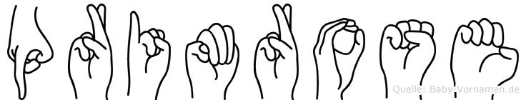 Primrose in Fingersprache für Gehörlose
