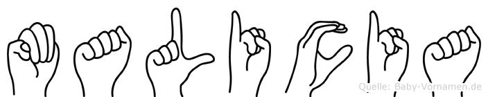Malicia in Fingersprache für Gehörlose