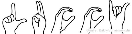 Luccy in Fingersprache für Gehörlose