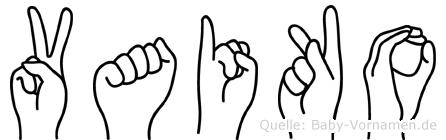 Vaiko in Fingersprache für Gehörlose