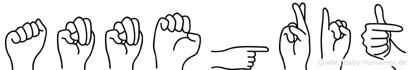 Annegrit im Fingeralphabet der Deutschen Gebärdensprache