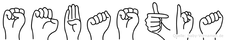 Sebastia im Fingeralphabet der Deutschen Gebärdensprache