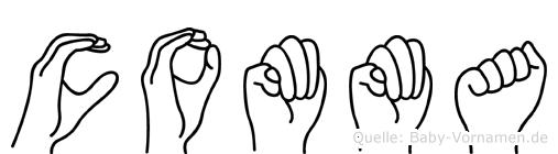 Comma im Fingeralphabet der Deutschen Gebärdensprache