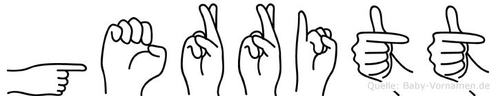 Gerritt im Fingeralphabet der Deutschen Gebärdensprache