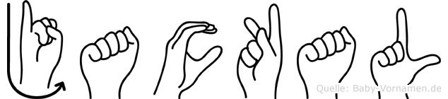 Jackal im Fingeralphabet der Deutschen Gebärdensprache