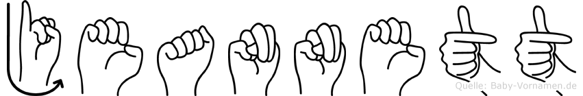 Jeannett im Fingeralphabet der Deutschen Gebärdensprache