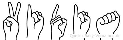 Vidia in Fingersprache für Gehörlose