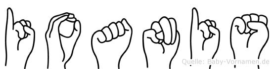 Ioanis im Fingeralphabet der Deutschen Gebärdensprache