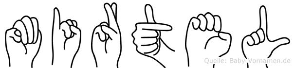 Mirtel im Fingeralphabet der Deutschen Gebärdensprache