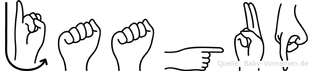 Jaagup in Fingersprache für Gehörlose