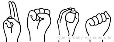 Usoa in Fingersprache für Gehörlose