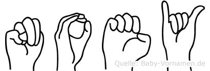 Noey in Fingersprache für Gehörlose
