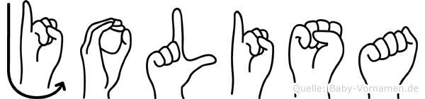 Jolisa in Fingersprache für Gehörlose