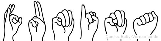 Fumina in Fingersprache für Gehörlose