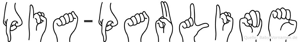 Pia-Pauline im Fingeralphabet der Deutschen Gebärdensprache