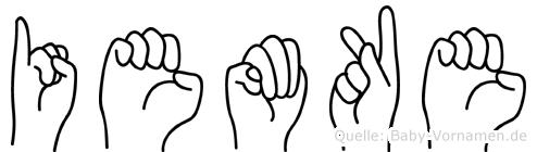 Iemke in Fingersprache für Gehörlose