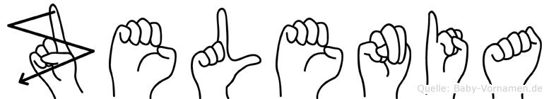 Zelenia im Fingeralphabet der Deutschen Gebärdensprache