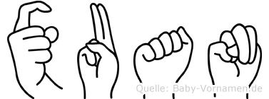 Xuan in Fingersprache für Gehörlose