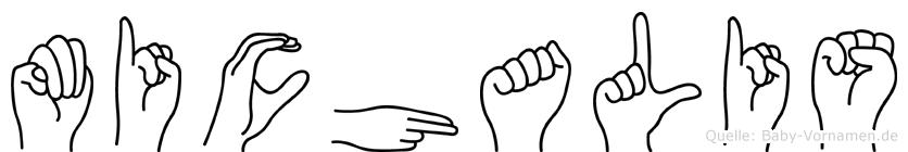 Michalis im Fingeralphabet der Deutschen Gebärdensprache