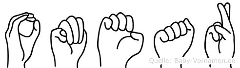 Omear im Fingeralphabet der Deutschen Gebärdensprache