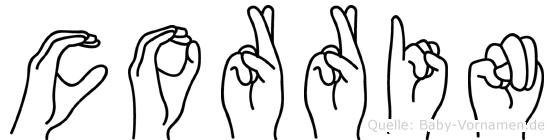 Corrin in Fingersprache für Gehörlose