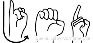 Jed in Fingersprache für Gehörlose