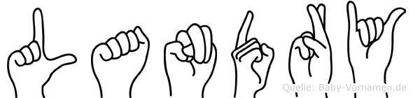 Landry im Fingeralphabet der Deutschen Gebärdensprache
