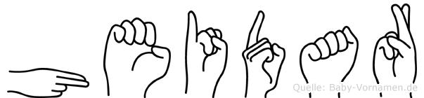 Heidar in Fingersprache für Gehörlose
