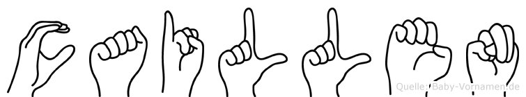 Caillen im Fingeralphabet der Deutschen Gebärdensprache