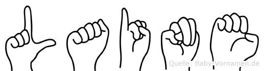Laine in Fingersprache für Gehörlose
