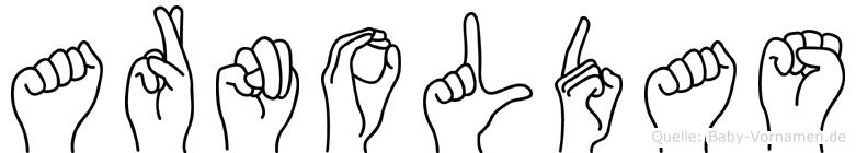 Arnoldas im Fingeralphabet der Deutschen Gebärdensprache