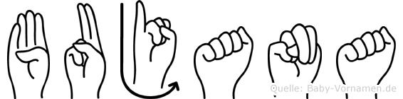 Bujana in Fingersprache für Gehörlose