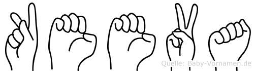 Keeva im Fingeralphabet der Deutschen Gebärdensprache