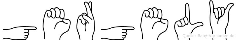 Gergely im Fingeralphabet der Deutschen Gebärdensprache