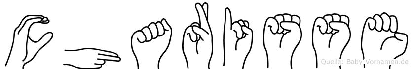 Charisse im Fingeralphabet der Deutschen Gebärdensprache