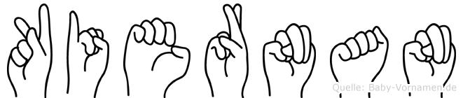 Kiernan in Fingersprache für Gehörlose