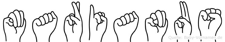 Marianus in Fingersprache für Gehörlose