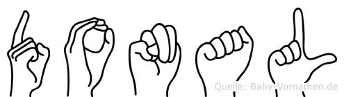 Donal im Fingeralphabet der Deutschen Gebärdensprache