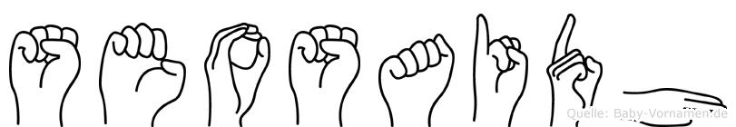 Seosaidh im Fingeralphabet der Deutschen Gebärdensprache