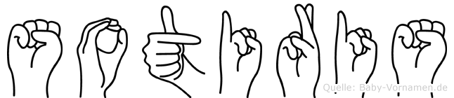 Sotiris im Fingeralphabet der Deutschen Gebärdensprache