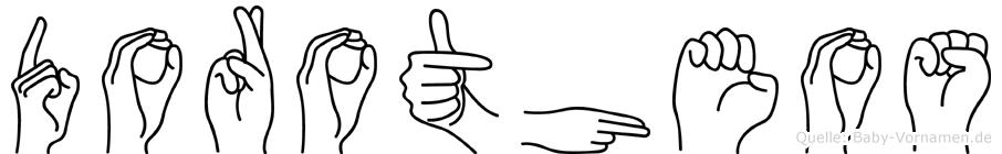 Dorotheos im Fingeralphabet der Deutschen Gebärdensprache