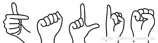 Talis im Fingeralphabet der Deutschen Gebärdensprache