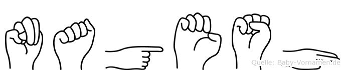 Nagesh im Fingeralphabet der Deutschen Gebärdensprache