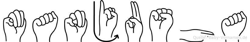 Manjusha in Fingersprache für Gehörlose