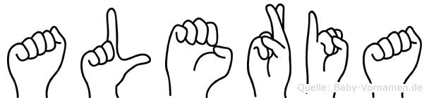 Aleria in Fingersprache für Gehörlose